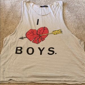 Wildfox striped graphic tank sz M